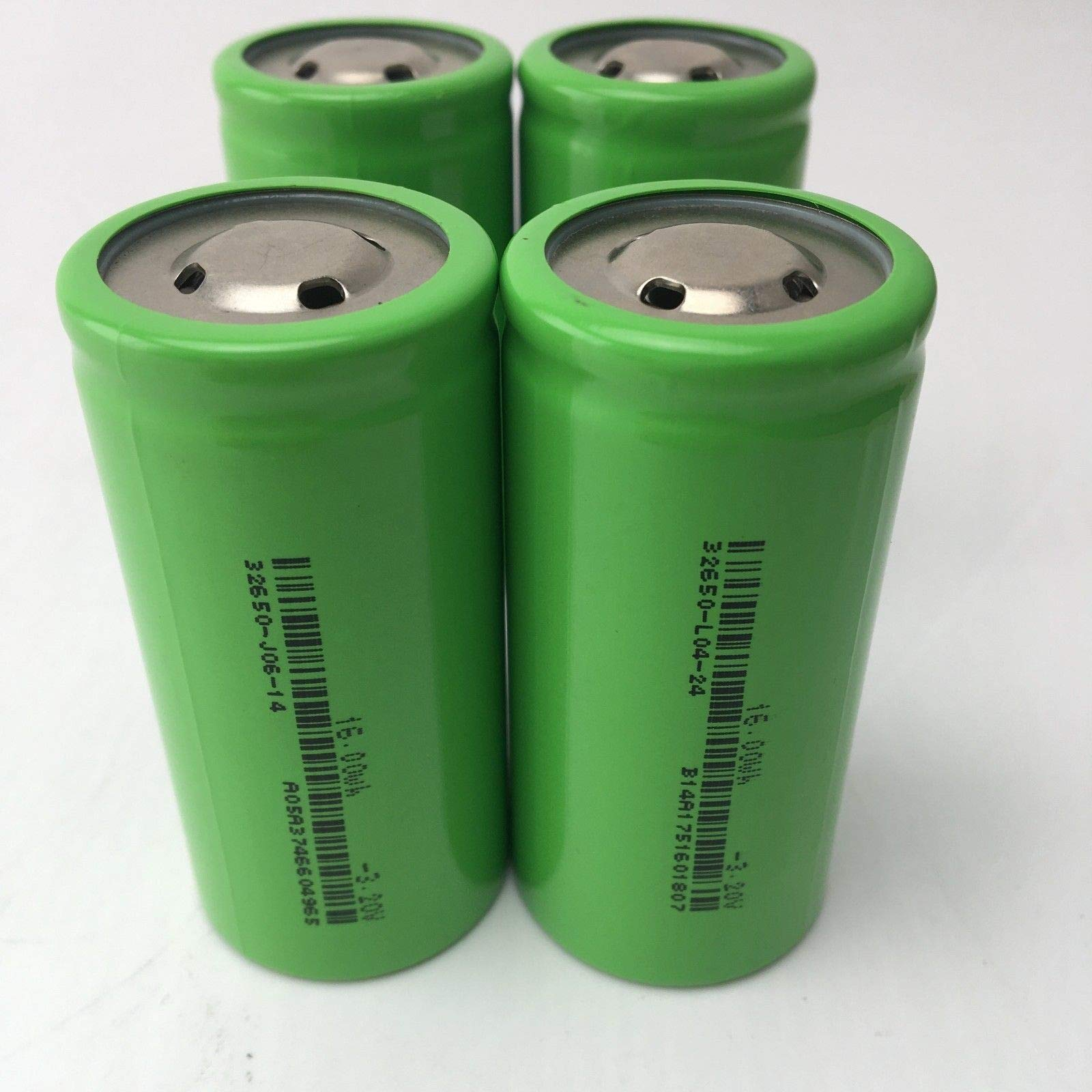 FidgetFidget Battery 4pcs 32650 5000mAh 3.2V Lifepo4 Rechargeable Li-Iron Phosphate E-bike