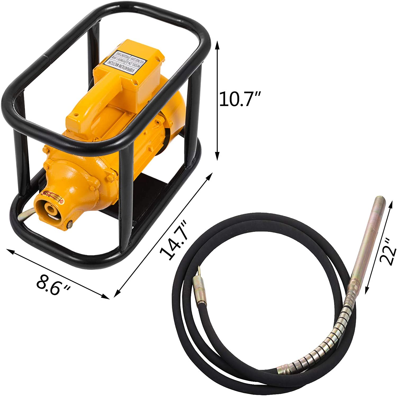 Poker 50MM Mophorn 220V Betonvibrator und Nadel Leichtmotor IP44 1500W