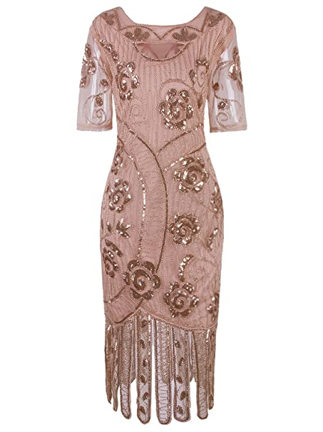 Amazon.com: Vijiv Vestido vintage de los años 20 para mujer ...