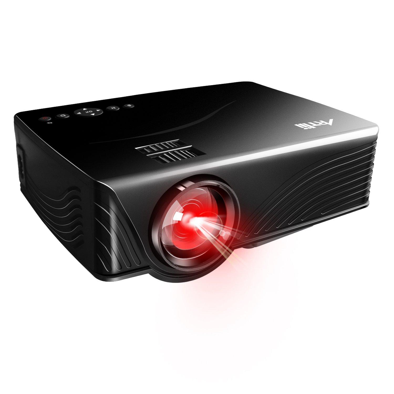 Mini Proiettore, Artlii Portatile Proiettore Supporto 1080P, con HDMI USB/SD/VGA/AV,Connessione TV Stick /Smartphone /iphone /Laptop /MacBook / TV GP10-Euro-Black