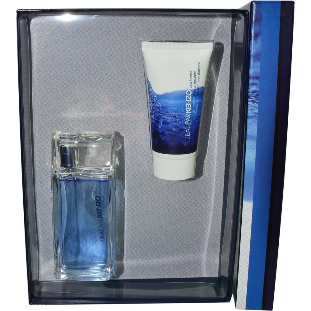 L'EAU PAR KENZO by Kenzo EDT SPRAY 1.7 OZ & HAIR AND BODY SHAMPOO 1.7 OZ for MEN ---(Package Of 6)