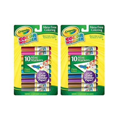 Crayola jRdgNS Color Wonder Mini Markers, 10 Count (2 Pack): Office Products