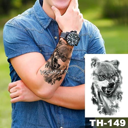 5 Unids Impermeable Etiqueta Engomada del Tatuaje Temporal Bosque ...