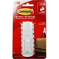 Command Large Utility Hook, White, 1-Hook, 2-Strips (17003ES)
