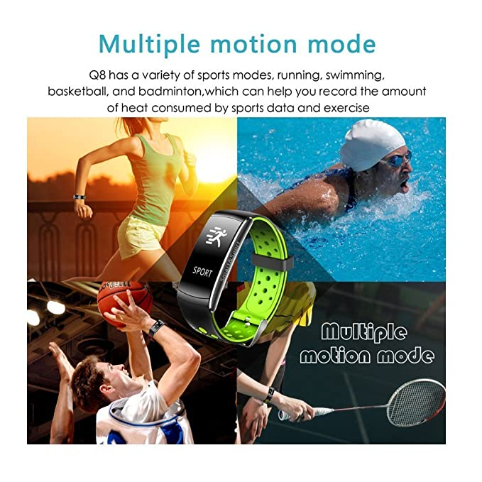 Amazon.com : Fitness Tracker IP68 Swimming Waterproof Smart Bracelet with Sleep Monitor Heart Rate Monitor Pedometer Calorie Counter Sports Watch Call ID ...