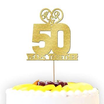 Personnalisé 50 Ans Lamour Anniversaire De Mariage Couple