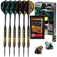 IgnatGames Steel Tip Darts Set - Professional Darts with Aluminum Shafts and 2 Style Flights + Dart Sharpener + Innovative Case