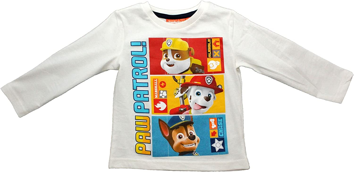 Paw Patrol Long Sleeve T-Shirt Boys and Girls 12 Colour Choices