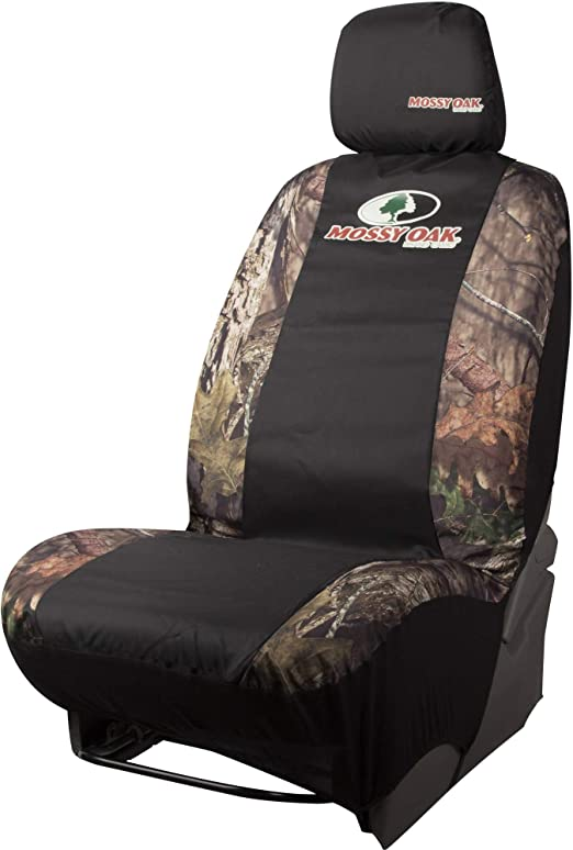 Mossy Oak Camo Seat Cover Low Back with Head Rest