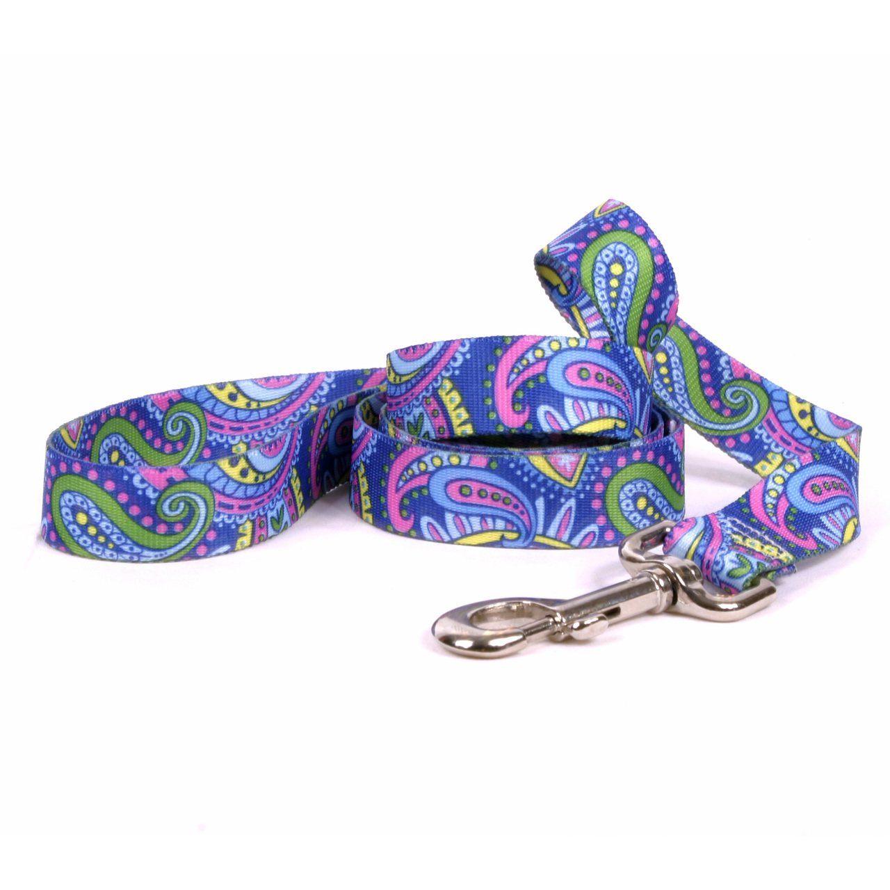 Yellow Dog Design Paisley Power Dog Leash, Large-1'' Wide and 5' (60'') Long