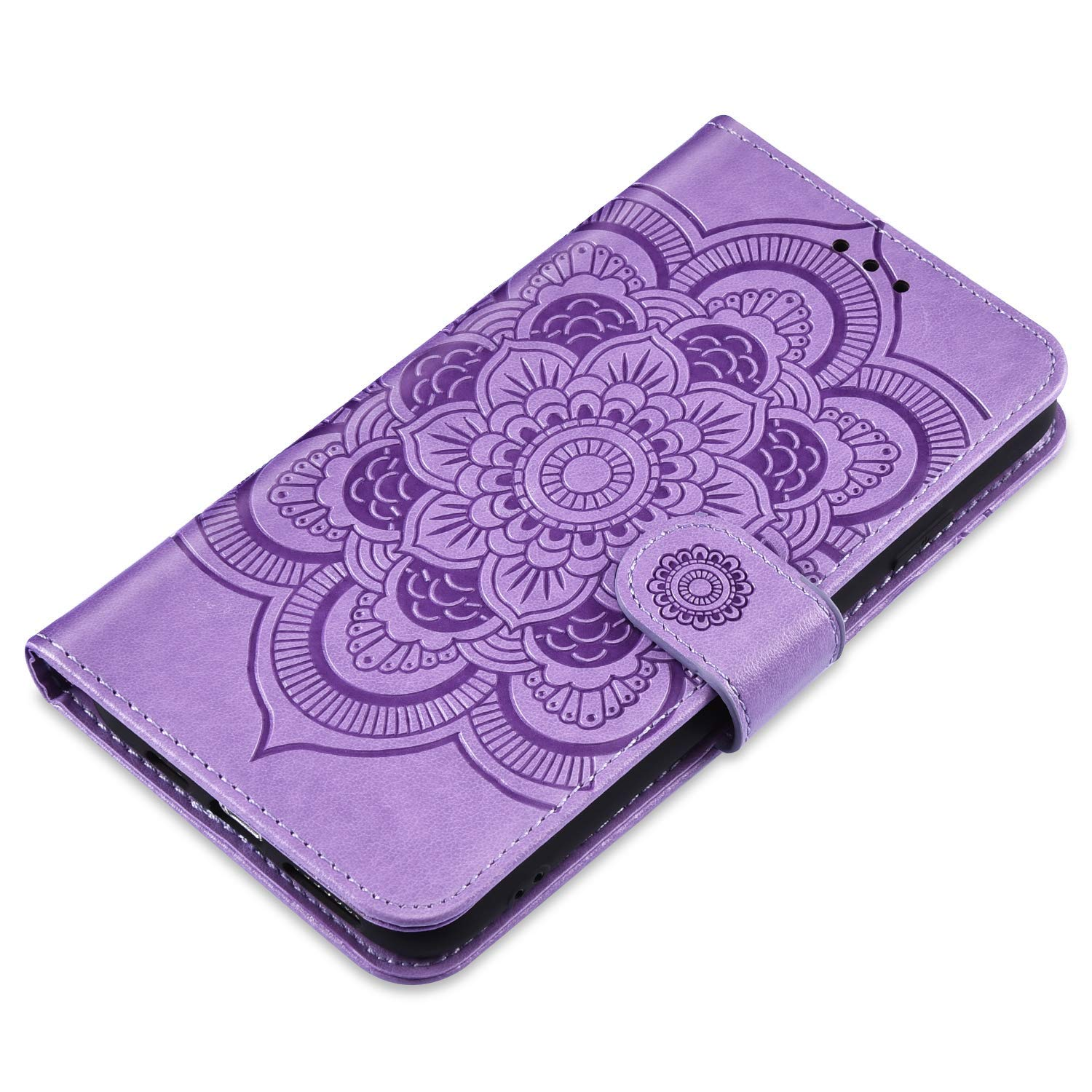 Flip Wallet Magnetic Folio Stand Cover with Embossed Mandala Flowers Design Card Slots Holders Ultra Slim Protective Case Cover,Blue JAWSEU PU Leather Case Compatible with Xiaomi Mi 9 SE