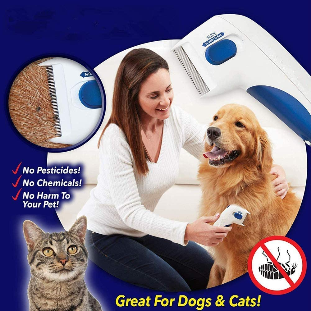 Silent Head Lice Removal Pet Cleaning As Seen On TV Electronic Comb for Dogs and Cats GAMRY Flea Comb for Pets