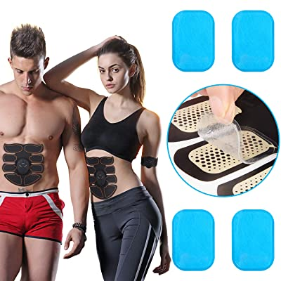 OSITO Abs Stimulator Replacement Gel Sheet 20Pcs//10 Packs Gel Pads for Muscle Trainer Workout Equipment