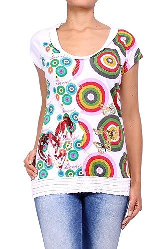 Desigual Camiseta de manga corta para mujer