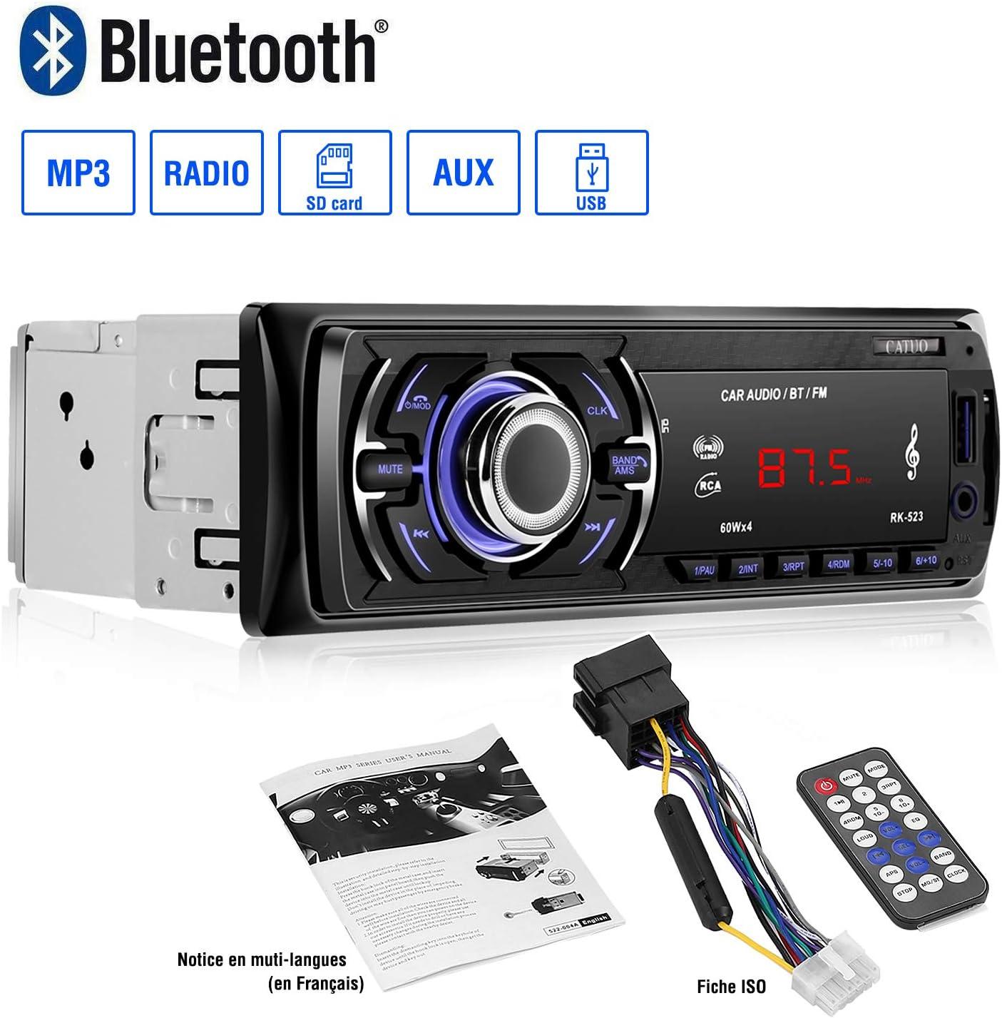 Autoradio Bluetooth Manos Libres Autoradio Bluetooth Coche 1 Din ...