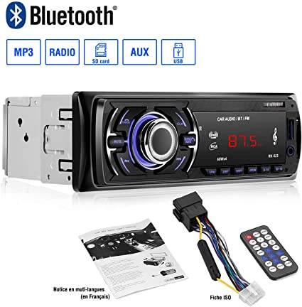 Autoradio Bluetooth Manos Libres Autoradio Bluetooth Coche 1 Din ...