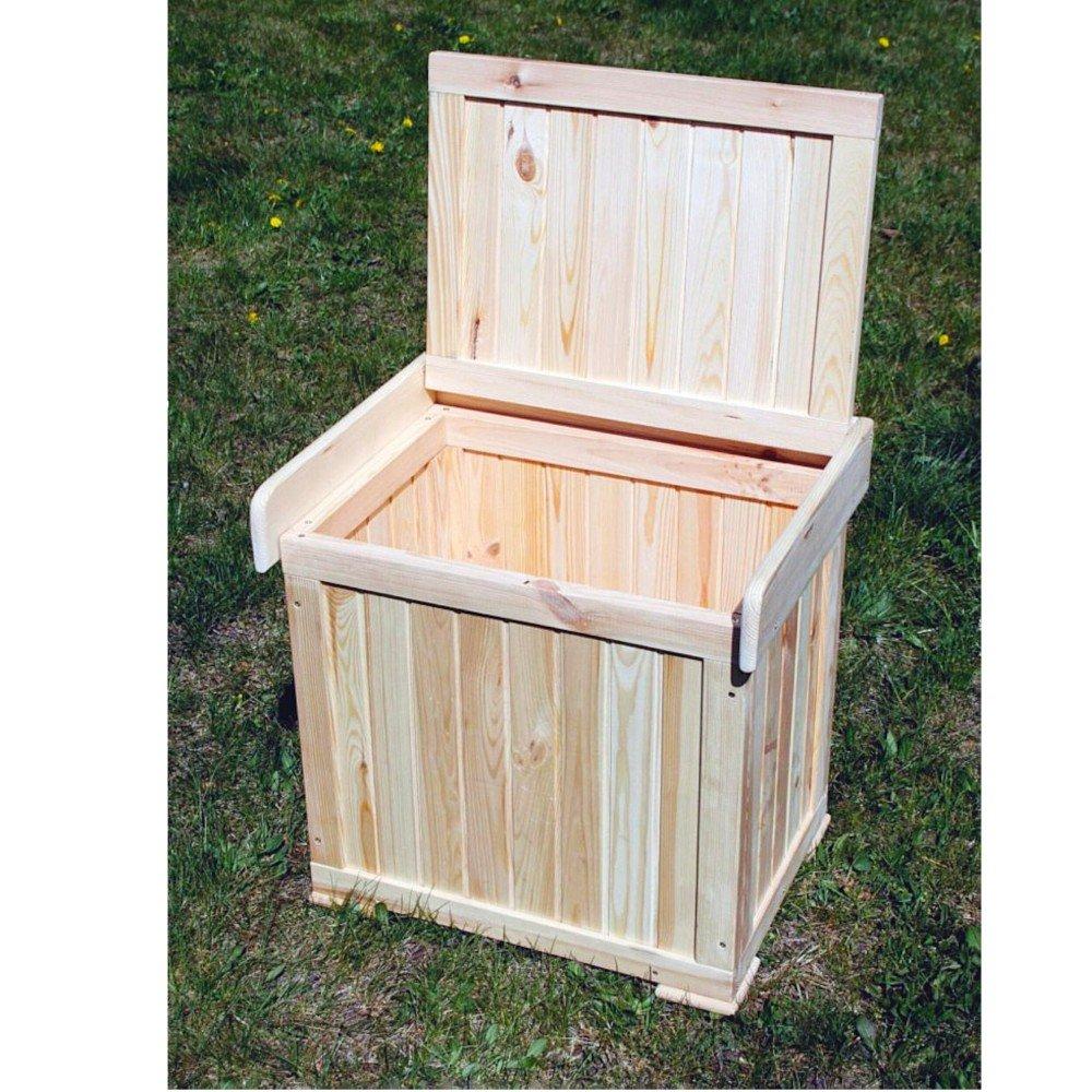 Kissenbox Patrick Sitztmöbel Stauraum Holz Gartenmöbel, Zubehör:Sitzkissen-Blau