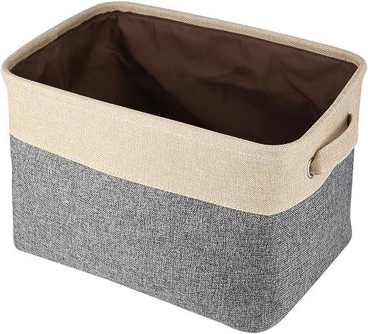 Caja organizadora abierta organizador plegable almacenaje en tejido cesta con asas para ropa juguetes niños bebé 39.5 * 27.23 cm: Amazon.es: Hogar