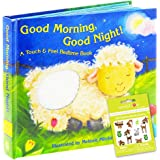 Good Morning Good Night -- A Touch and Feel Book Baby Toddler (Includes Stickers)