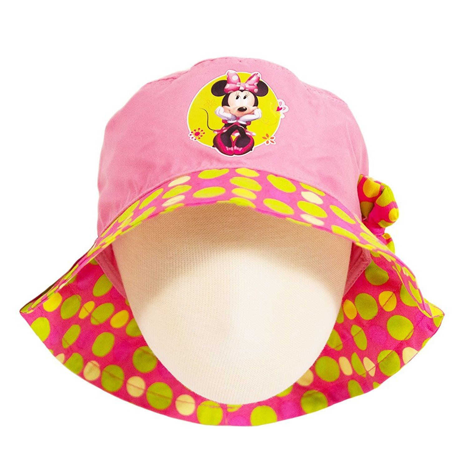 de866472 Amazon.com: Minnie Mouse Disney Polka Dot Little Girls Toddlers Bucket Hat:  Clothing