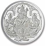 Ananth Jewels BIS HALLMARKED 999 Purity Silver Coin Ganesha + Lakshmi + Saraswati 2.5 grams Pack of 2 ( Total 5 Grams )