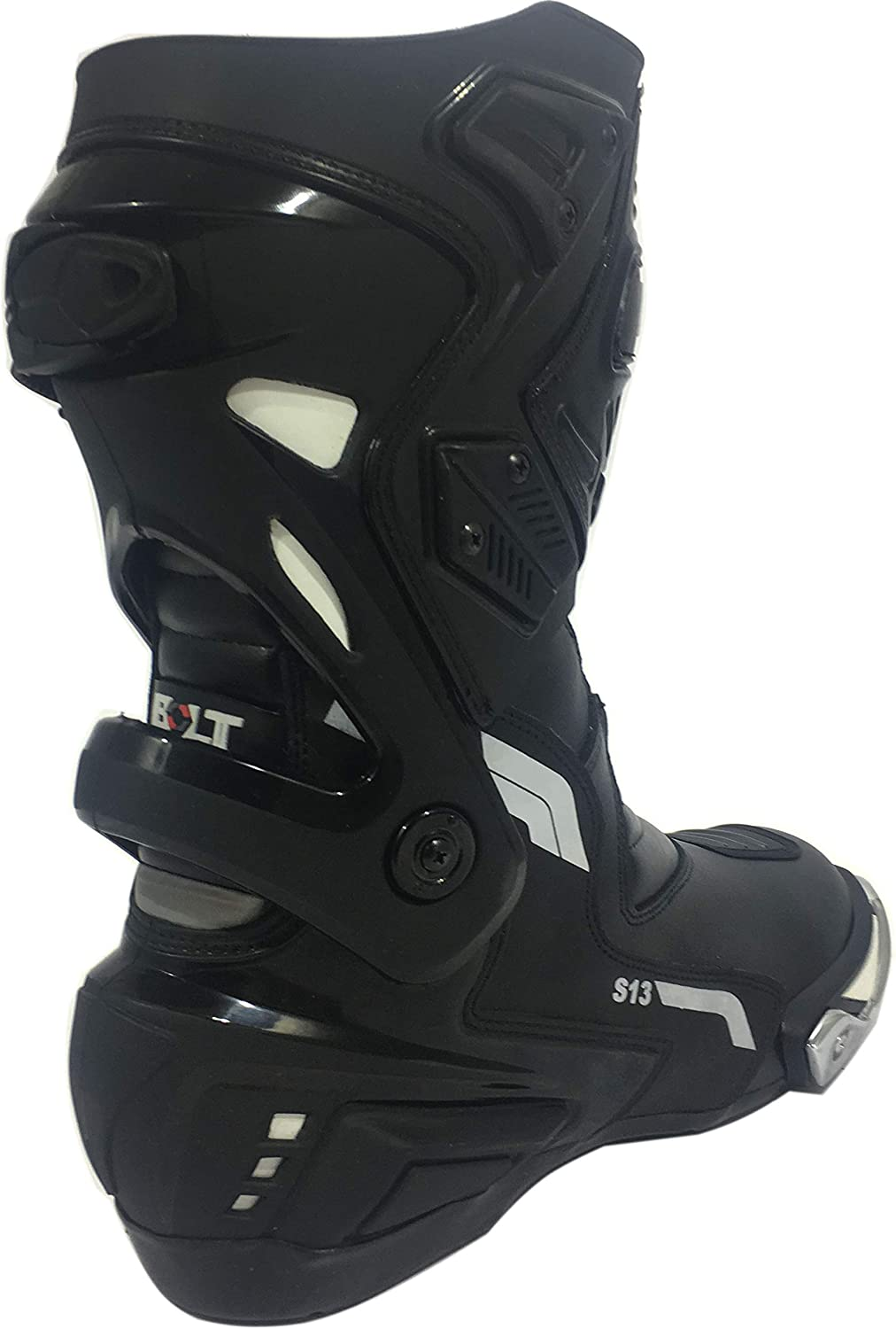 EU 44 VIPER RIDER Bolt S13 Motorbike Motorcycle Leather Touring Sports Racing Waterproof Boots Black