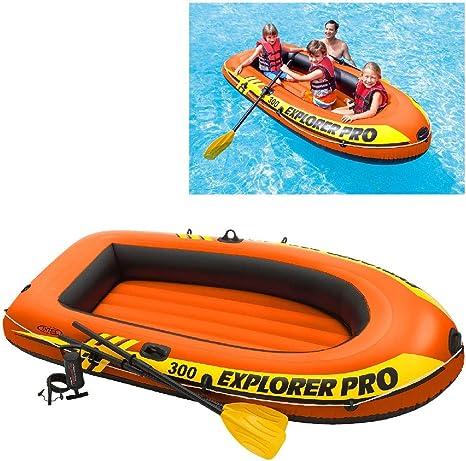Intex 58358NP - Barca hinchable Explorer Pro 300 con remos e hinchador 244 x 117 x 36 cm: Amazon.es: Deportes y aire libre