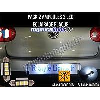 Pack ampoules led éclairage plaque pour Volkswagen Golf 5