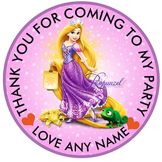 30 x personalizable Disney princesa Rapunzel 50 mm 2