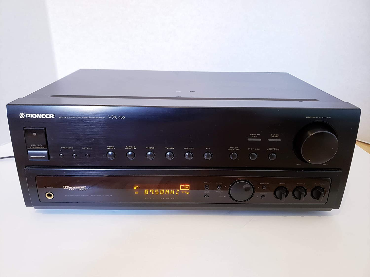 Pioneer Vsx455 Home Receiver - Dolby Pro Logic