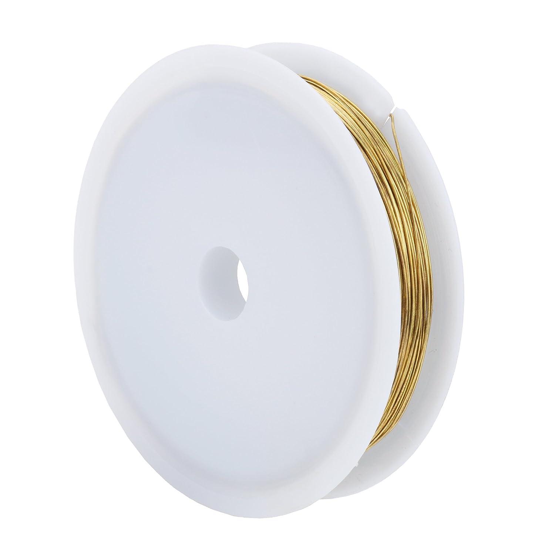 sotogo 10 rollos joyas alambre 0,4 mm alambre de cobre sin revestimiento resistente al desgaste Pure muertos suave alambre de cobre joyería Making rollo de ...