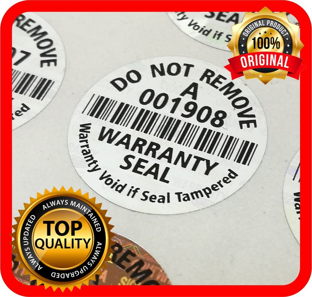 300 Etiquetas Seguridad Numeradas con Holograma (Diam 2.2cm)