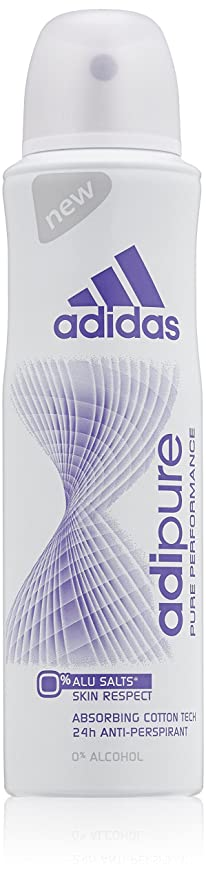 best loved 6cbd4 dddb3 Adidas Adipure Women Deodorant Spray, 150 ml, 1er Pack (1 x 150 ml