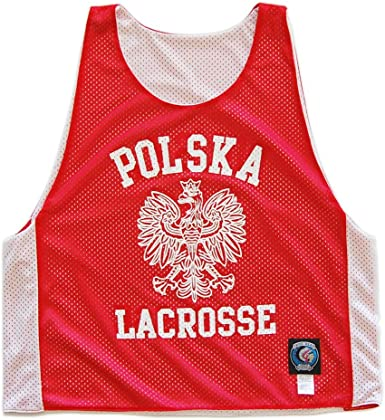 Poland Polska Lacrosse Reversible Pinnie