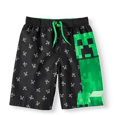 4511a9aae7 Amazon.com: Jynx Boy's Minecraft Swim Boardshort Trunks: Clothing