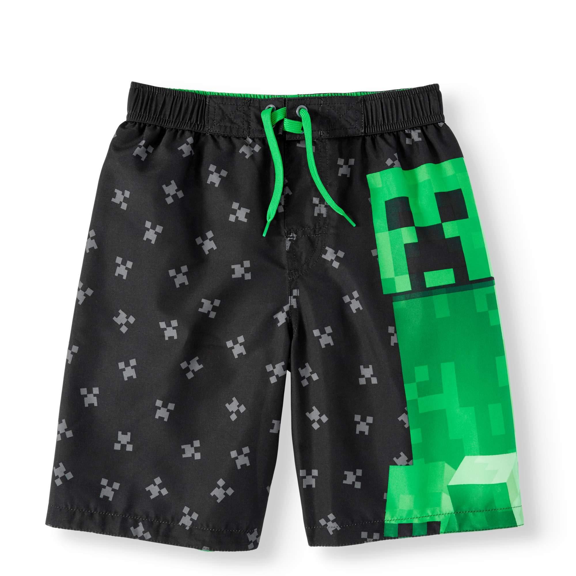654469123c Amazon.com: Jynx Boy's Minecraft Swim Boardshort Trunks: Clothing