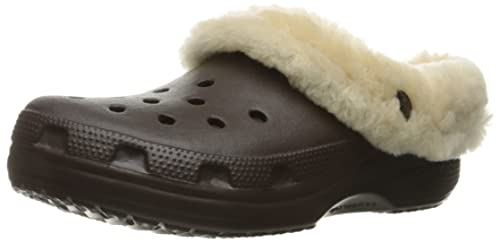 82c544459 Crocs Unisex Classic Mammoth Luxe Clog Mule Brown  Amazon.ca  Shoes ...
