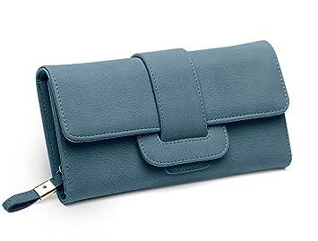 d4bf483a531a8 DNFC Geldbörse Damen Portemonnaie Lang Portmonee Elegant Clutch Handtasche  Groß Geldbeutel PU Leder Geldtasche mit Reißverschluss