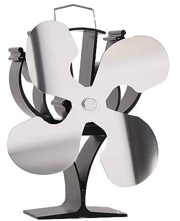 Nueva Diseñado 4 cuchillas ventilador para estufa quemador de ...