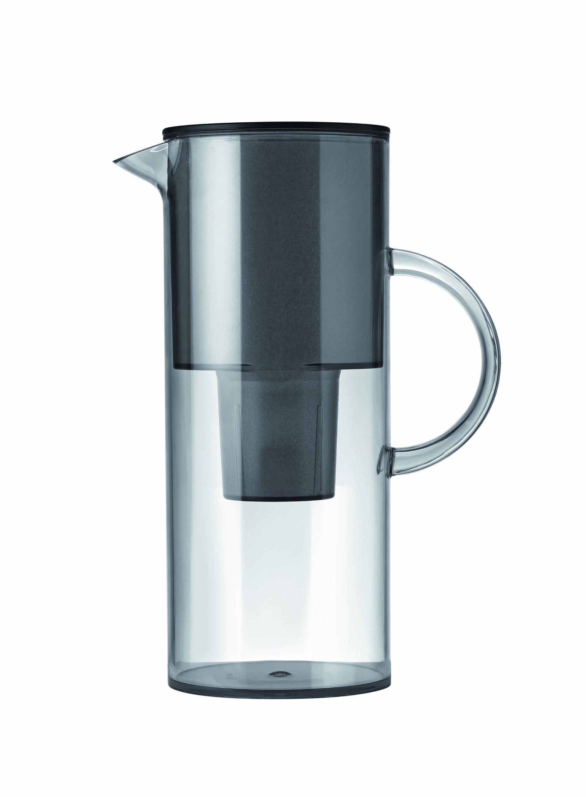 Stelton Jug, transparent with water filter – Smoke , 50.7 oz , 1.5 l