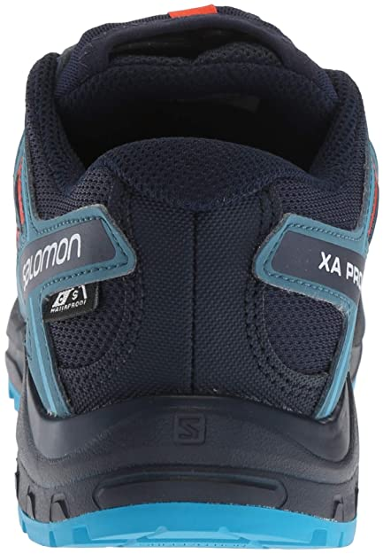 Amazon.com | Salomon Kids XA Pro 3D CSWP J, Trail Running Shoe, navy blazer / mallard blue / hawaiian surf, Child 6 | Trail Running