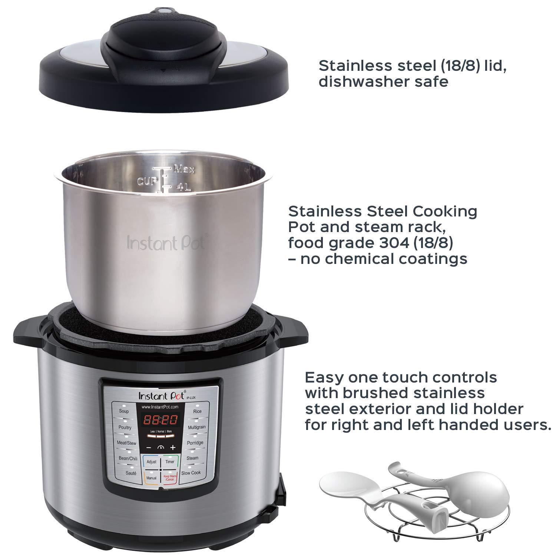 Instant Pot® IP - LUX60 6-en-1 Olla de Presión Programable, 6L/1000W 220V, última tercera Generación de Tecnología , de acero inoxidable Cooking Pot y ...