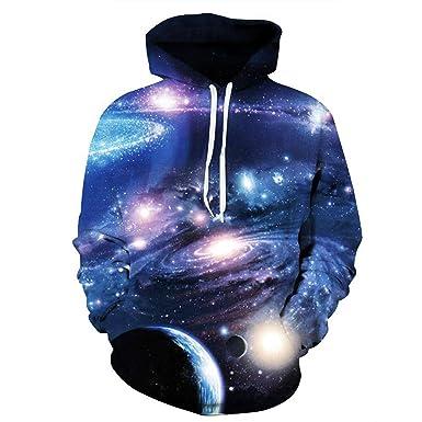 d6d3fb35fa0287 Men's Sweatshirt Space/galaxy Print 3d Hoodies Hoodies Casual Loose Blue Men /women Hoodie Couples Tops Plus Size at Amazon Men's Clothing store: