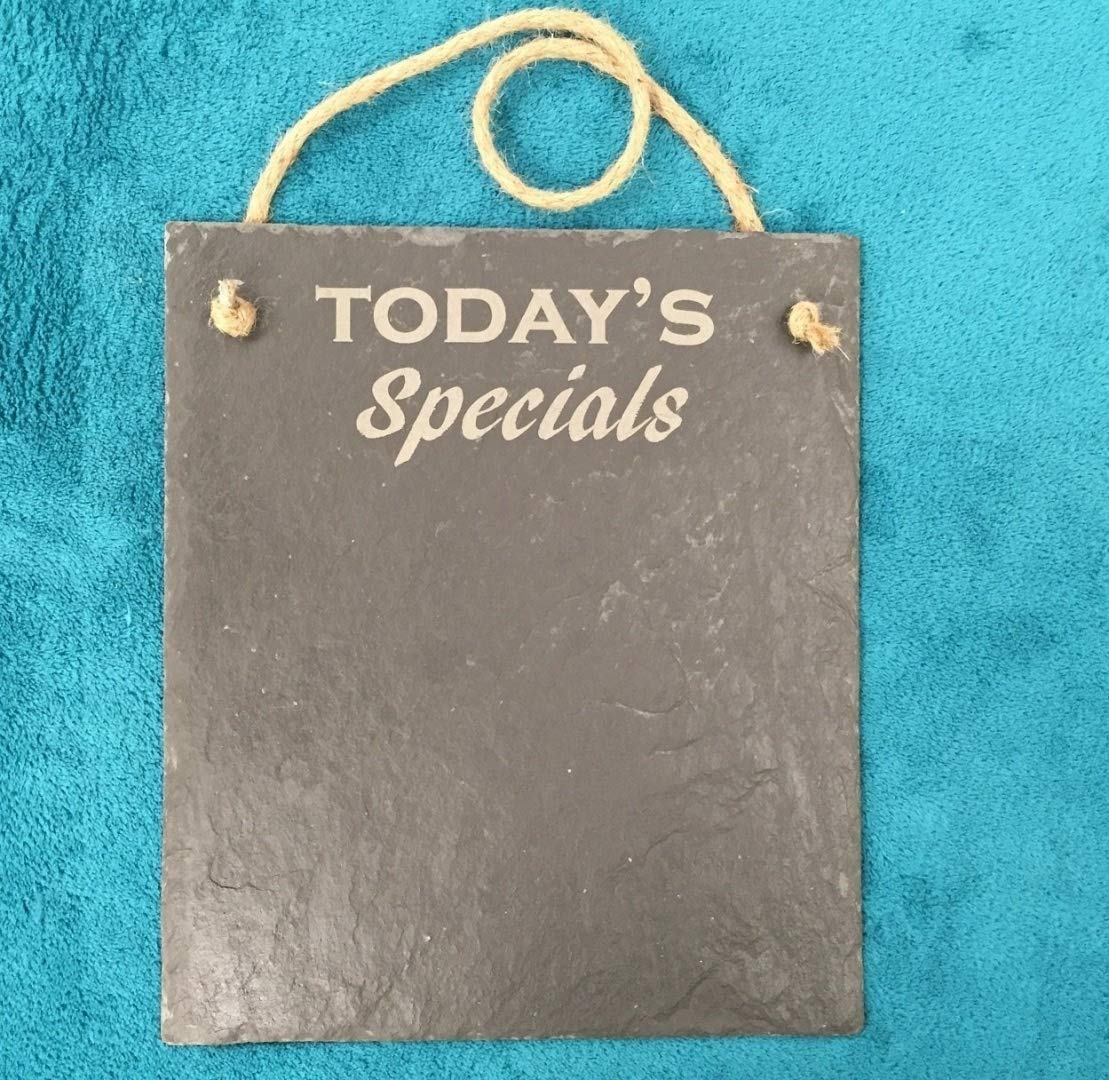 Derwent Laser Craft Rustic Slate Today's Specials Board with Jute Rope 5055582598273
