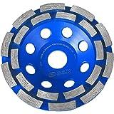 S&R Muela de Copa Diamante 125x22,2 mm / Disco Diamantado para Hormigón, Piedra Natural, Ladrillo, 2 filas estuco