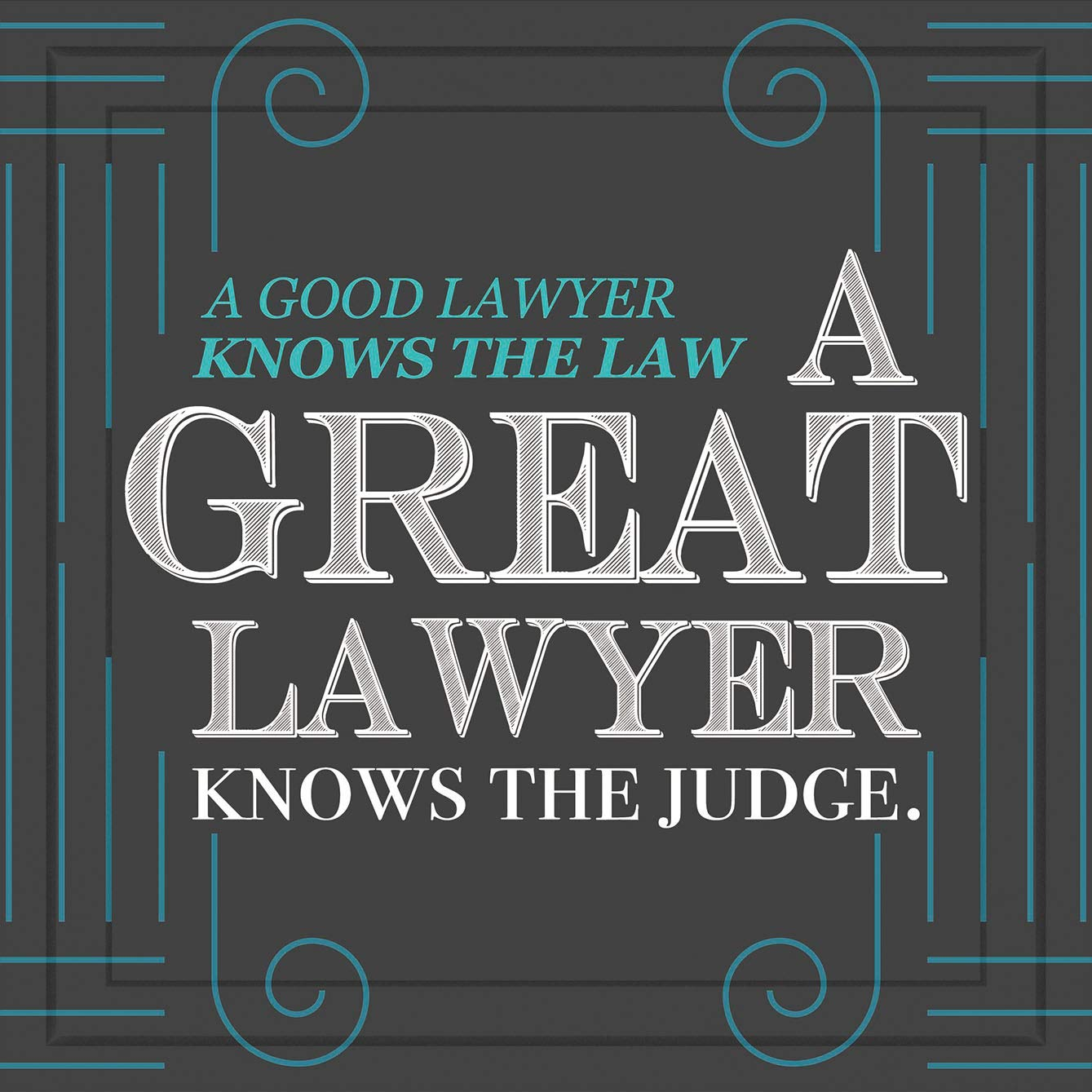 Belly Kicks Gifts for Attorney Men or Women | Inspiring 7x7 Tile Artwork Special for Lawyer | Great Gift Idea for Female or Male Attorneys | Ideal Present for Home or Office Decor