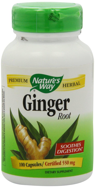 Nature's Way Ginger Root, 550 mg, 400 Capsule Jumbo Size Pack