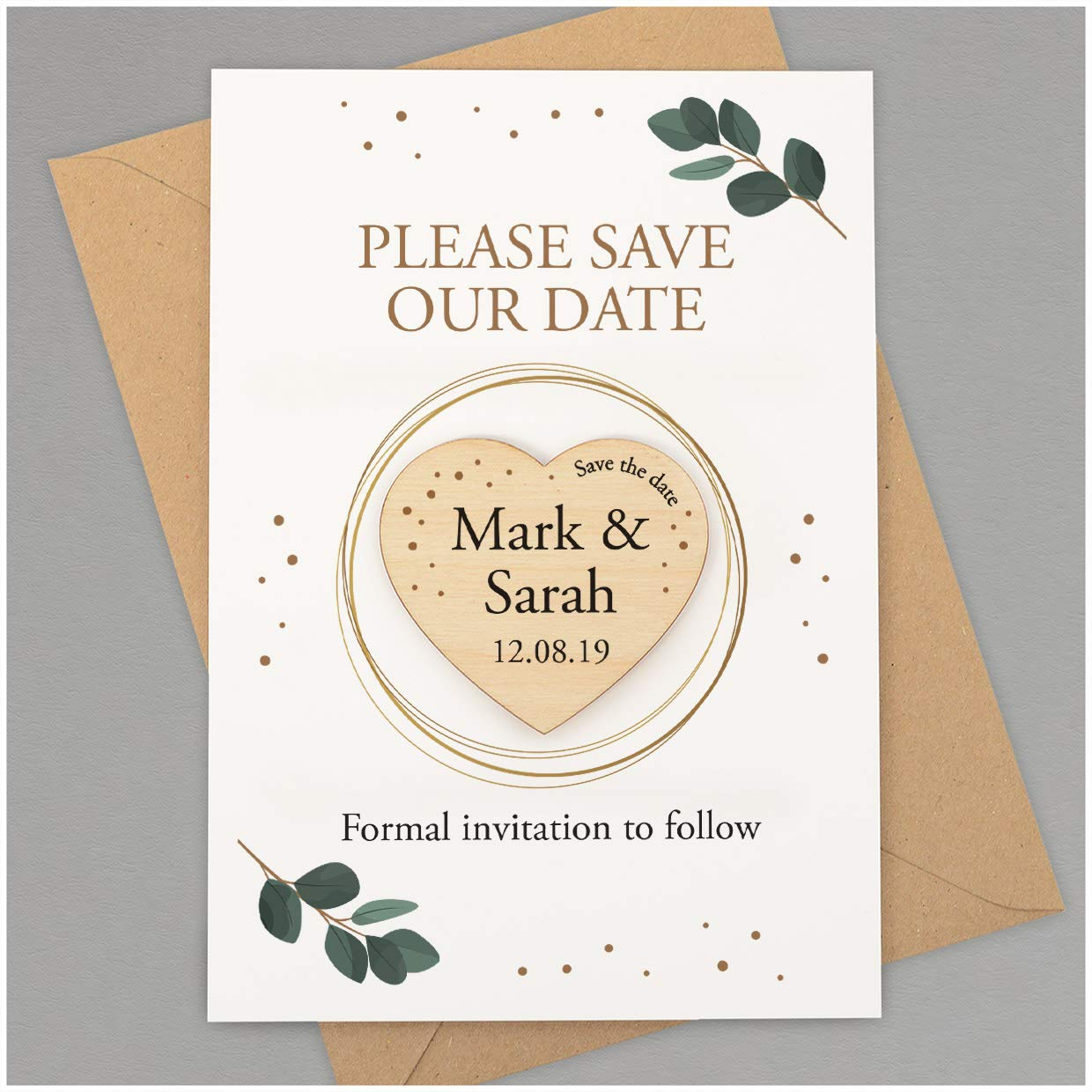 Personalised Eucalyptus Save The Date Magnets Rustic Wedding Save The Date Cards Envelopes Unique Wedding Save The Date Ideas Boho Floral Greenery Spring Summer Wedding Invitations Amazon Co Uk Handmade