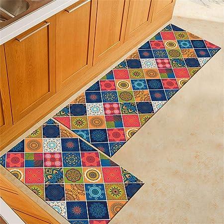 WGOO Carpet Tapis de Cuisine Devant Evier Tapis Cuisine Antidérapant  Absorbent Lavable en Machine,Tapis De Cuisine D\'Épaisseur d\'impression De  Motif ...
