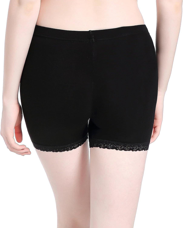 Womens Under Skirt Leggings Soft Stretch Lace Short Leggings Fitness Shorts